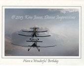 Follow the Leader Birthday Card - 4x6 Print on 5x7 Card
