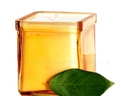 Golden Peach Soy Candle -  Recycled Glass Container