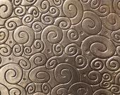 Nickel Silver Blank Texture Metal Sheet Grecas & Doodles Pattern 22g - 3 x 2 1/4 inches - Bracelets Pendants Metalwork