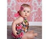 Baby Romper Pattern, Girls Ruffled SUNSUIT Sewing Pattern, Ruffle Romper Pattern, Sunsuit Pattern, baby sewing pattern, Infant Romper