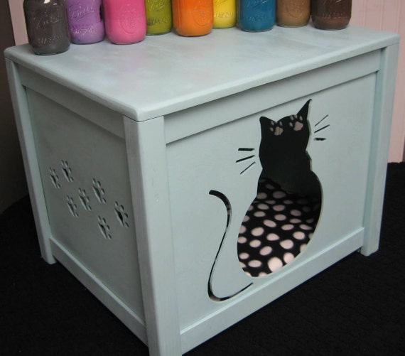 cat house combo bed or litter box cover kitty design. Black Bedroom Furniture Sets. Home Design Ideas