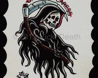 One Last Caress Reaper Original Painting
