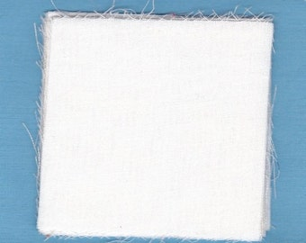 Fabric Precut 3  Inch Squares - 50 Pieces Solid White Cotton Material 4 Charm Quilting, Scrapbooking, Miniature Projects