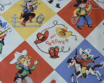 Retro YIPPIE Cotton Fabric by Michael Miller - 1 Yard