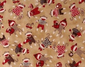 Tossed Monkeys Brown Fabric from Monkey Around by Quilting Treasures (1649 - 22451 - A) - One Yard