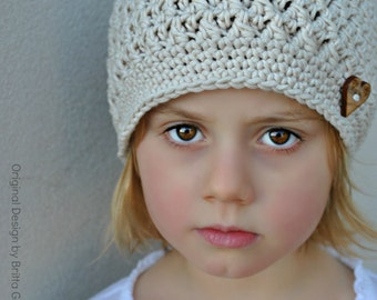 Crochet Hat Pattern - Chunky Textured Beanie Crochet Pattern No.108 FOUR sizes Baby Toddler Child Digital PDF