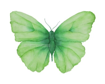 spring green butterfly giclee archival print by Carol Sapp