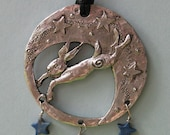 Leaping Moon Hare Pendant