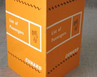 Cunard Memorabilia , 1965 , List of Passengers , RMS Queen Mary , Passenger List , Cruiseship , Booklet , Cunard Cruise Line , Cruise Liner