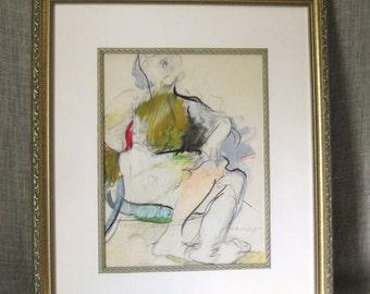 Female Portrait , Portrait Drawing , Portraiture, Abstract , Art , Fine Art , Handmade , Original Drawing , Figurative , Vintage Art