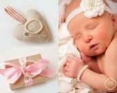 Newborn MINI pearl jewelry -  little girl  - traditional  - endless - stretch bracelet - baby bracelet - Melissa Mooradian
