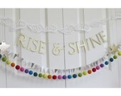 SALE - RISE and SHINE - Inspirational Glitter Letter Banner Garland