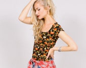 Designer floral t-shirt - Bohemian fashion - Wanderlust - Rogue:Minx