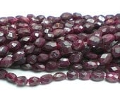 Red Ruby Bead Faceted Ruby Beads Faceted Oval Ruby