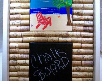 Corkboard, Wine Cork, Chalk, Chalkbord, Wall Hanging, Beach Decor