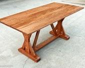 Trestle Dining Table - Abbott's Collection - Custom Furniture - Elegant Design - Solid Hardwood - Handmade in the USA