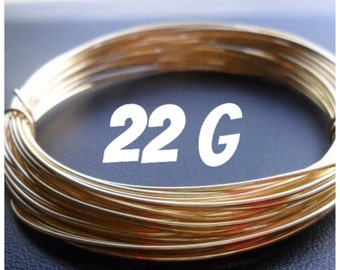 NuGold Brass Wire 22g Round Dead Soft 5ft-100ft