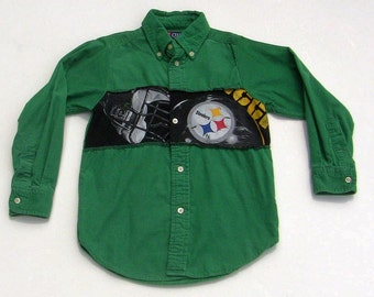 Upcycled Steelers Shirt Boys Size 4/5T