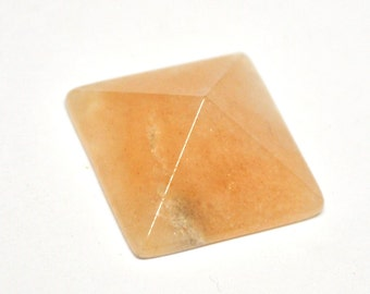 Natural Peach Quartz Pyramid Cabochon - 20.8 x 20.8 x 8.8 mm - 23.0 ct - 140831-36