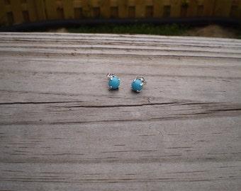 Sleeping Beauty Turquoise Stud Earrings 6mm