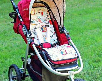 Personalized Reversible Stroller Pad Liner Bumbleride Indie- - - Made to Order - - -