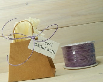 Full Spool Mauve 1mm Wax Cotton
