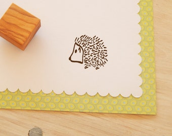 Little Hedgehog Olive Wood Stamp