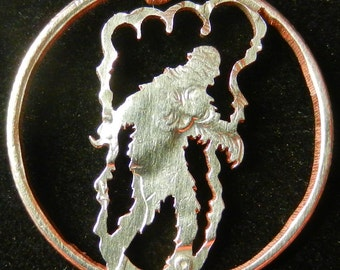 Bigfoot Hand Cut Coin Jewelry