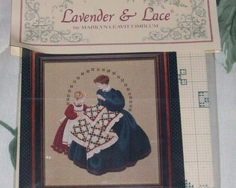 Lavender & Lace Cross Stitch Patterns - NEW IN PACKAGE