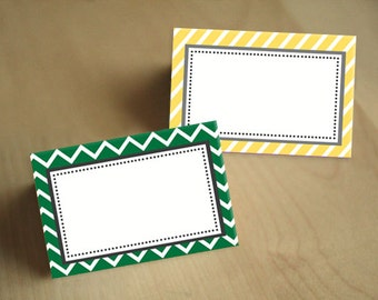FOOD TENT LABELS in Yellow and Green- Instant Printable Download