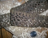 1 ft. Hand done 18th century Antique french metal lace trim,more