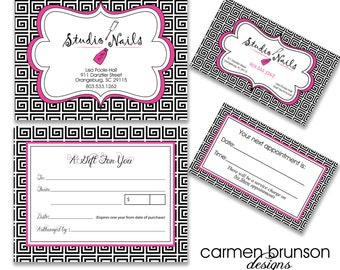 Digital file design business cards gift certificate for Premier designs jewelry business cards