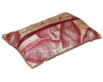 Burgundy Flowers Kleenex Pouch Travel Tissue Cozy