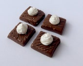 "SALE American Girl doll food set of 4 chocolate brownies - 18"" doll food"