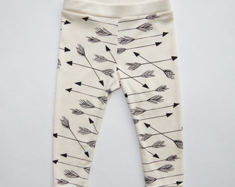SALE! Organic Cotton Baby Arrow Leggings | Arrows | Gender Neutral Kids Clothes | Screen Printed Clothing | On Sale | Unisex | Hipster Pants