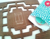 4 in 1 Wooden Envelope template - Vintage style