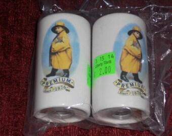Vintage Morton Salt-Salt & Pepper Shakers Set-Premium Since 1876-NICE