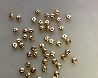 Gold rondelle spacer 4.5 x 2.4 mm NICKEL FREE