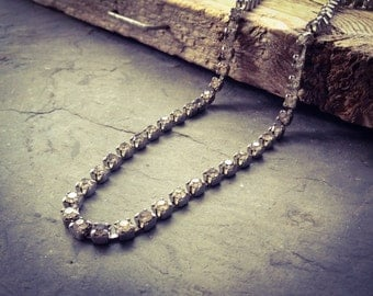 Vintage Rhinestone Choker Necklace Holiday Jewelry Party Jewelry New Years Retro Gifts Under 30 Gifts For Her Rhinestone Jewelry