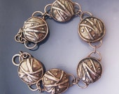 Textured Copper Lentils bracelet