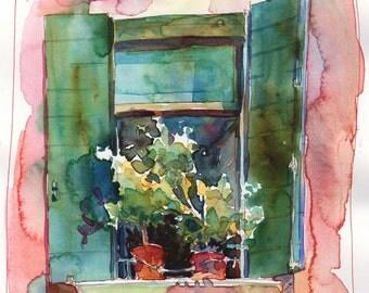 Italian Window 2 Signed Fine Art Print