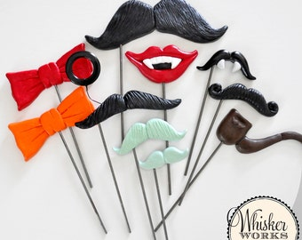 The Halloween Mix of Photo Booth Props - Set of 10