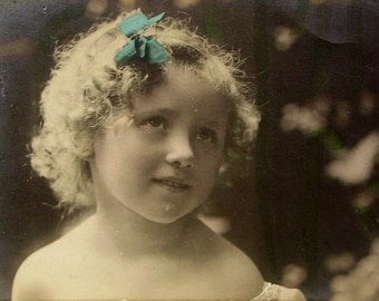 Antique Postcard - Pretty Little Girl