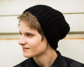 Black Knitted Folk Slouch (Made to Order)