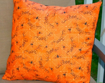 Halloween Spider Pillow Cover, Decorative Toss Pillow, Accent Pillow, Throw Pillow, Pillowcase, Fits 18x18 inch form
