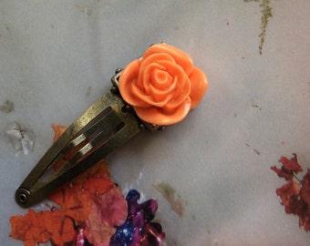 Memories Rose Barrette Hair Accessory Hair Clip Floral Rose Hair Accesories Feminine Barettes Roses Accessories Fashion Accessories Etsy