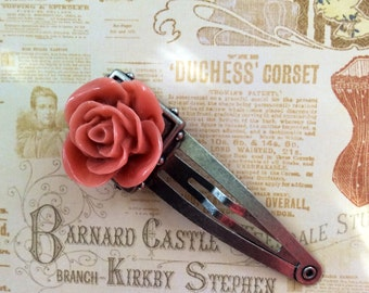 The Fairest Of Them All  Rose Barrette Hair Accessory