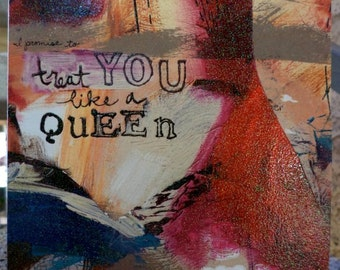 Like A Queen Another Greeting Art Card