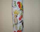 Plastic bag/Storage bag holder Australian Birds print eco friendly 100% cotton Great for the pantry
