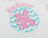 Big Sister Shirt - Circle Initial -  Personalized Big/Middle/Little Sis Shirt